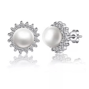 Freshwater Pearls Ring in White 8-9 mm AAAA